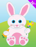 """28"""" XL Jointed Easter Bunny Rabbit Hanging Decoration for Easter Party Accessory"""