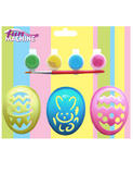 Easter Egg Stencil Kit for Boys & Girls Creative Easter Toys w/ 4 Paints Stencil