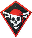 Graphic Diamond Pirate Kite for Kids Childrens Outdoor Camping Beach Sports Game