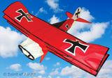 Red Baron Triplane Kite for Adults WW1 Aeroplane Outdoor Camping Beach Sports