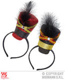 Glitter Majorette Mini Hat for USA American Dance Troop Fancy Dress Accessory
