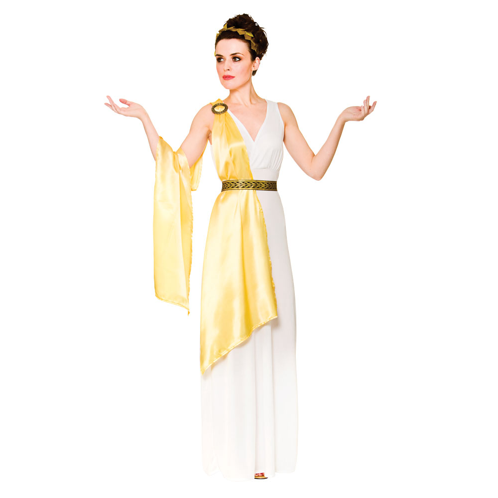 Ladies Greek Goddess Costume for Roman Ancient Fancy Dress ...