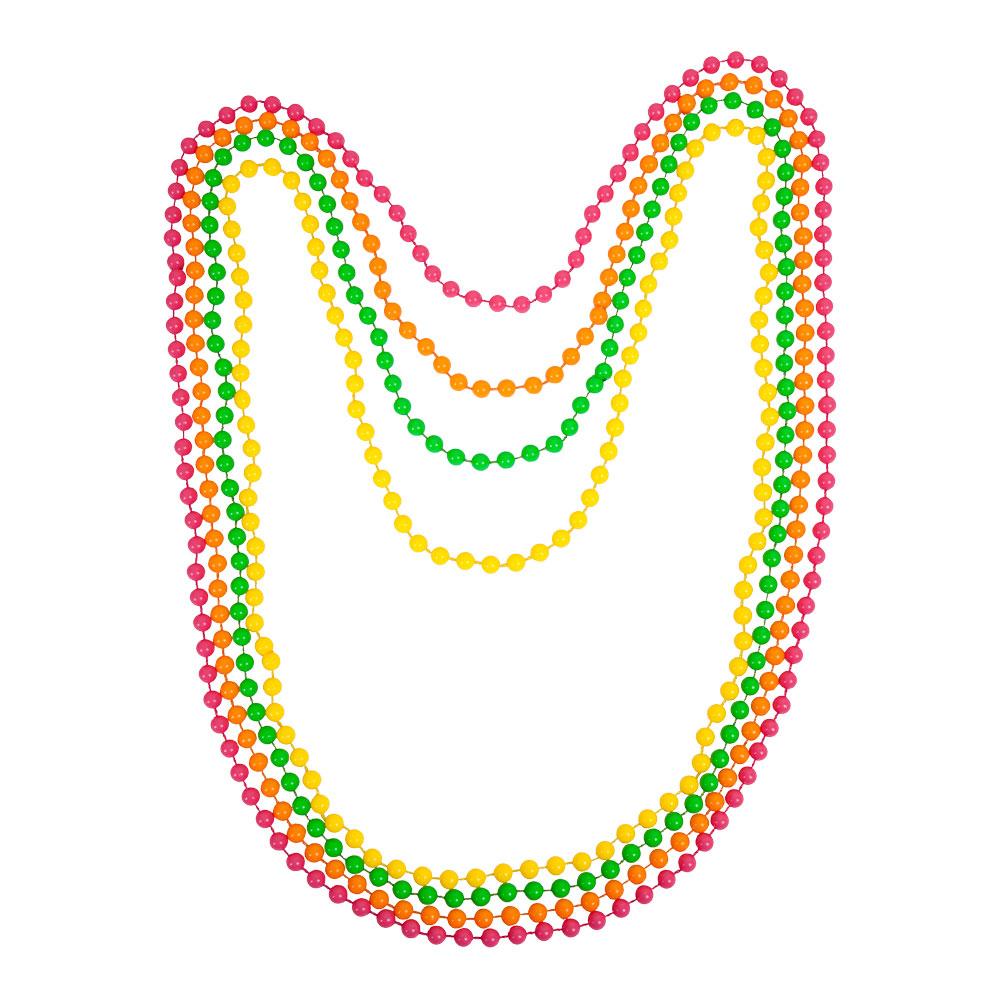80s Neon Beads Jewellery for 80s Disco Pop Retro Fancy Dress