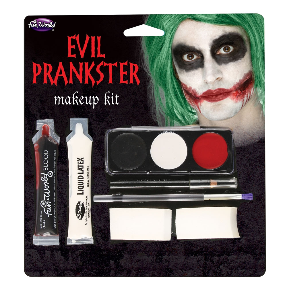 Evil Prankster Kit Makeup for Halloween Joker Circus Clown Cosmetics