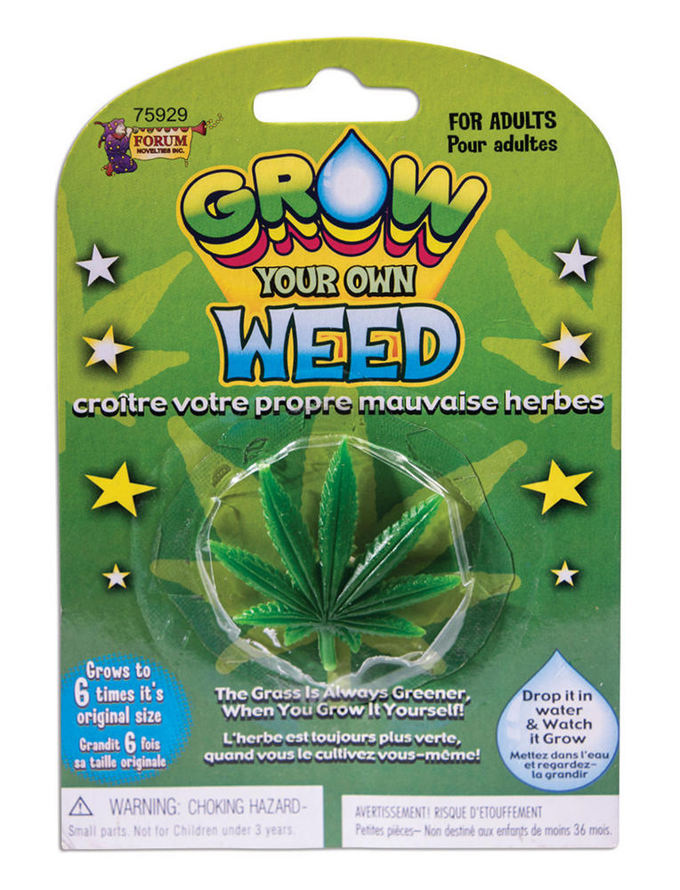 Grow your Own Weed Gift Gag for Jamaican Hippie Joke