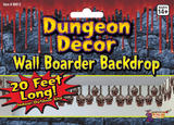 Skull Border Dungeon Decoration Prop for Halloween Party Decoration