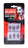 Blood Capsules Liquid (6pcs) Face Body Paint for Vampire Zombie halloween SFX