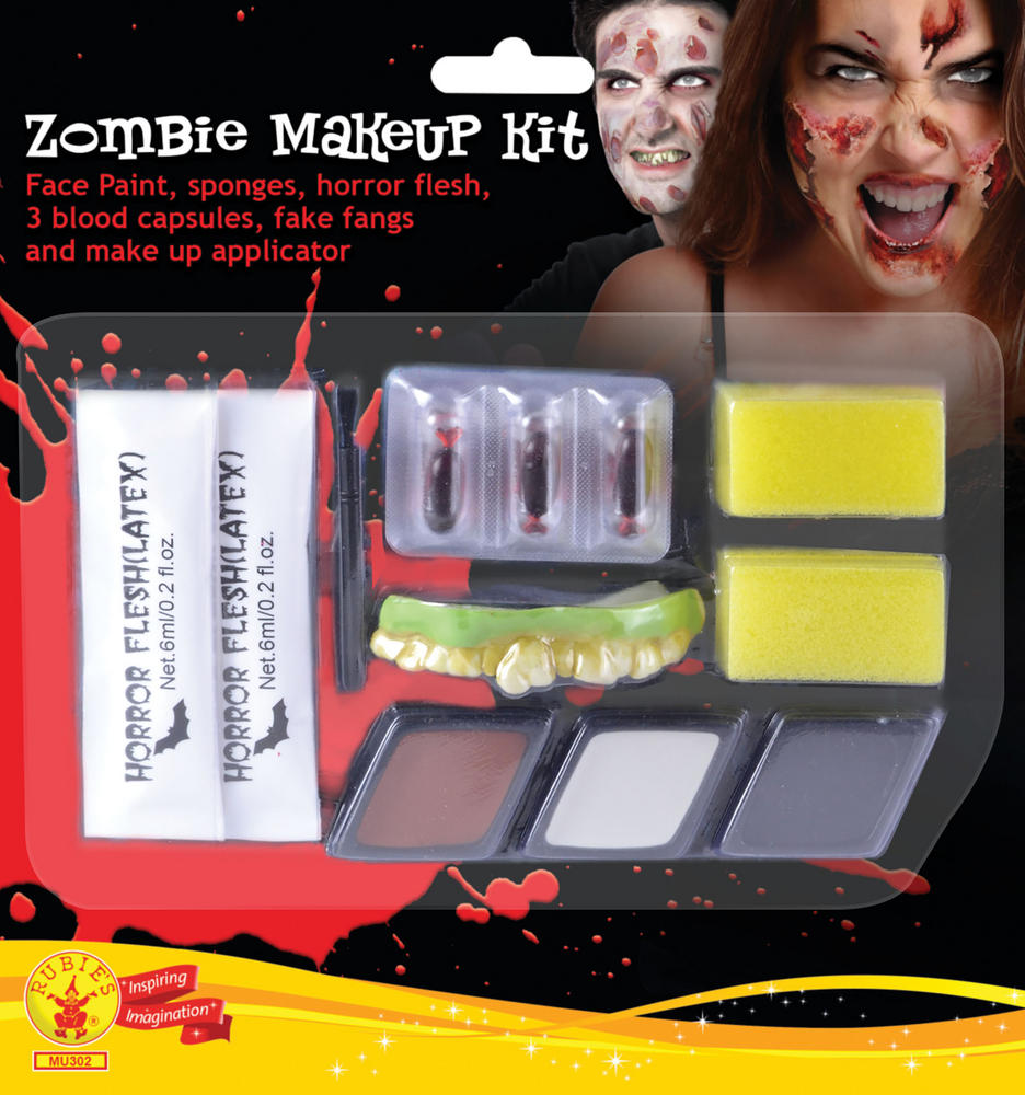 Mens Zombie Man Make Up Kit Face Body Paint for Halloween Living Dead SFX