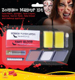 Ladies Zombie Lady Make Up Kit Face Body Paint for Halloween Morticia SFX