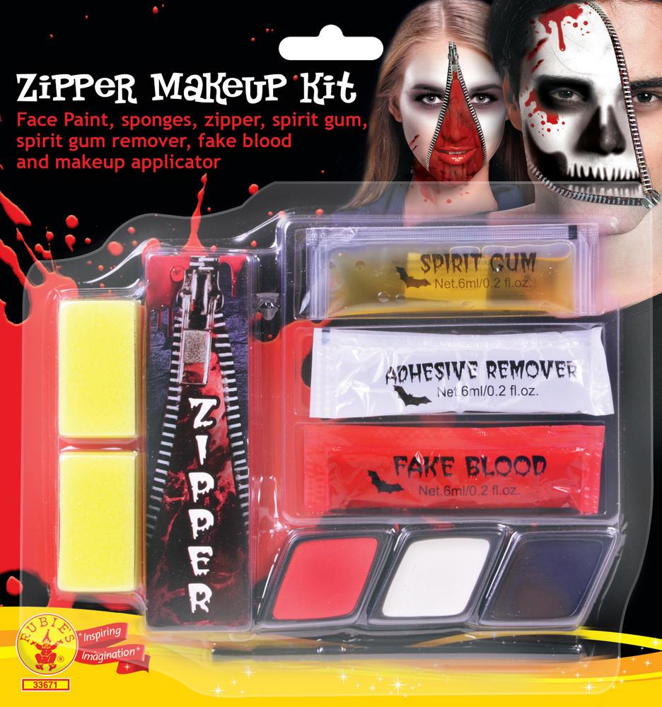 Zipper Make Up Kit Face Body Paint for Halloween SFX Face Body