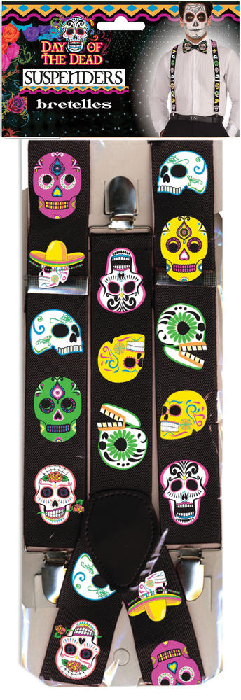 Day of the Dead Braces Accessory for Halloween Carnival Cosplay Fancy Dress