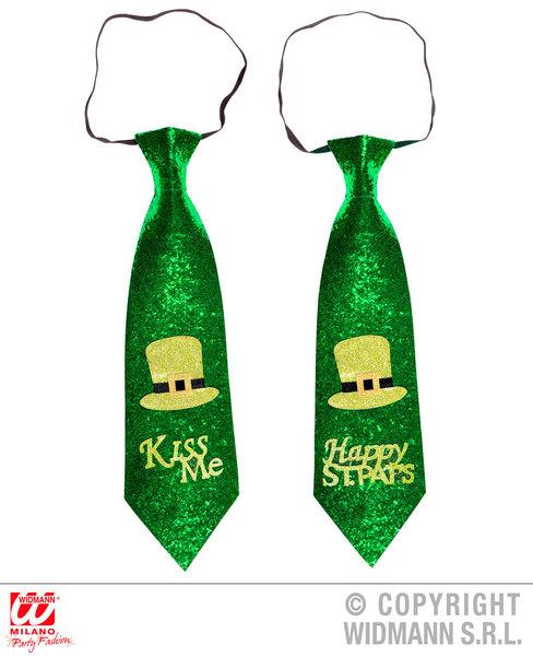 ST. PATRICK'S DAY GLITTER TIE 1 of 2 styles asstd for Irish Ireland St Paddy's P