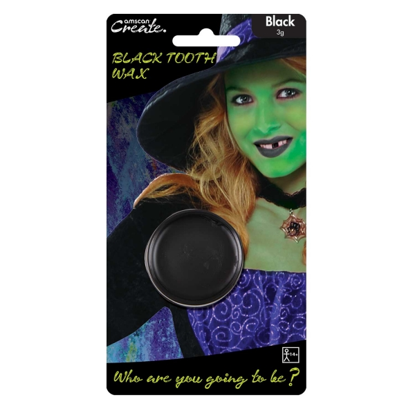 Black Tooth Wax for Halloween Witch Face Paint Make Up Missing Tooth Accessorie