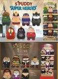 Spuddy Sofa Car TV Remote Beer Snack Cushion Holder Couch Potato Plush Mans Gift