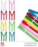 Color Braces - 8 Colors assorted Belt Braces for 80s 90s Glow Party Fancy Dress