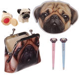 Pug Dog gift set in a purse for girls ideal christmas or birthday present