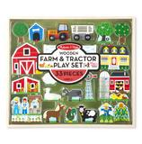 Childrens Wooden Farm & Tractor Play Set 33pcs for Boys & Girls Animal Toy Gift