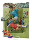 Deluxe Boys Dads Birthday Card Football Soccer 3D Swing Pop Up Greeting Card