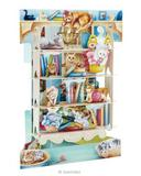 Deluxe Mothers Day Mum Birthday Card Cats on Bookshelves Animals 3D Swing Pop Up