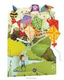 Deluxe Son / Boys Birthday Card Flying 3D Kites Swing Pop Up Greeting Card
