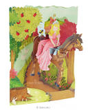 Deluxe Girls Birthday Card Daughter Princess on Horse 3D Swing Pop Up Greeting