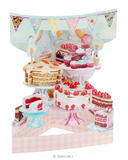 Deluxe Home Baked Cakes Card Birthday Wedding Mothers Day 3D Swing Pop Up Card