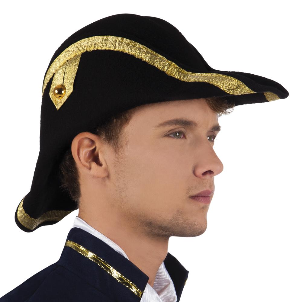 Bicorn Hat: Hat Admiral Bicorne Accessory For Sailor Navy Seaman Fancy