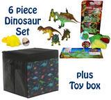 Childrens Dinosaur Toy Box Set for Boys & Girls Jurassic Prehistoric Birthday