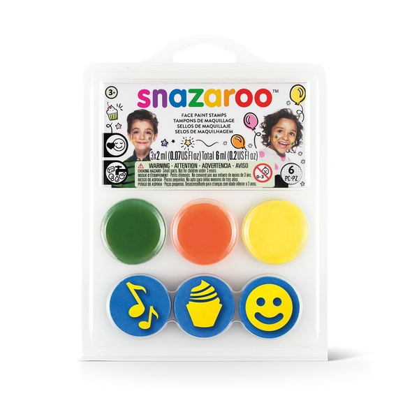 Stamp Face Painting Kit Birthday Party Makeup Accessory for Emoji Fancy Dress