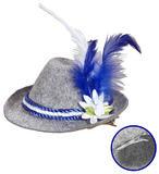 Mini Bavarian Fedora Hat Accessory for Oktoberfest German Festival Fancy Dress