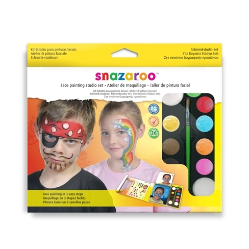 Snazaroo Face Painting Studio Set Makeup for Clown Halloween Fancy Dress