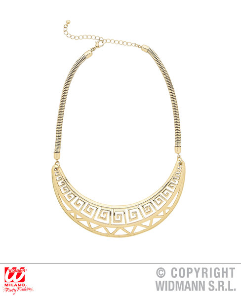 GREEK ROMAN EGYPTIAN GOLD NECKLACE for Ancient Greecian Roman Latin Accessory