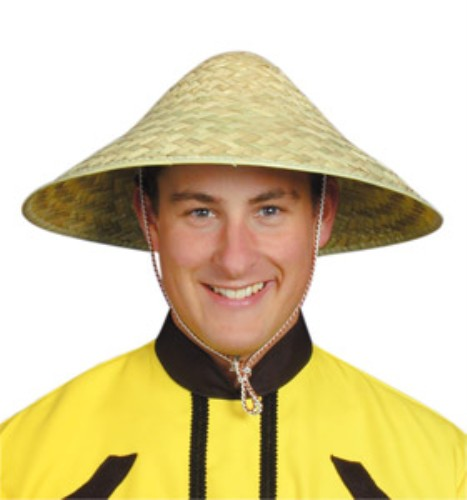 Coolie Hat: Chinese Coolie Hat For Oriental Fancy Dress Accessory