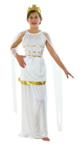 Girls Fancy Dress Outfit Costume Athena - Large Toga Party Rome Sparticus