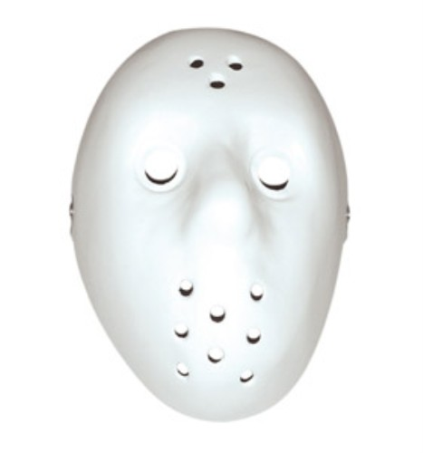 Mask Hockey White Plastic for Fancy Dress Masquerade Accessory