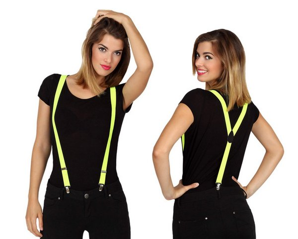 Braces Yellow Accessory Belt Fancy Dress