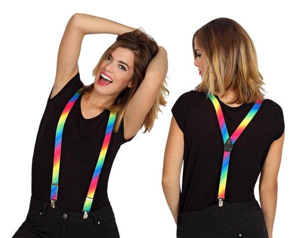 Braces Multi Coloured Accessory Belt Fancy Dress