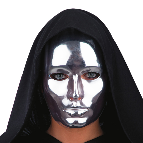 Mask Face Theatre Silver closed mouth Face Body Paint Makeup