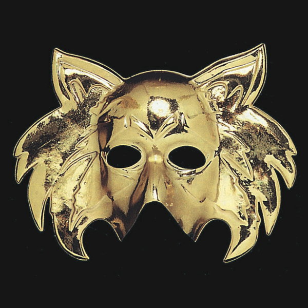 Mask Face Golden Cat shape Face Body Paint Makeup