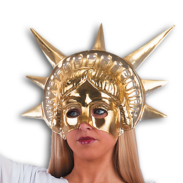 Mask Face Theatre Statue of Liberty Gold Face Body Paint Makeup
