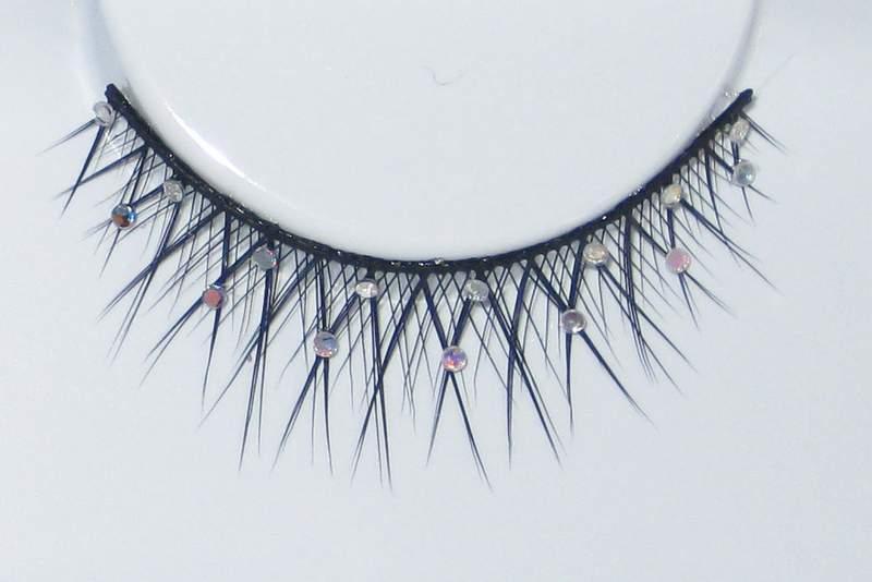 Eye Lash set Glitter Crossed Black Cosmetics Makeup