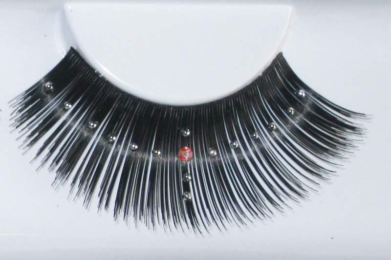 Eye Lash set Pearly Cross Long Black Cosmetics Makeup