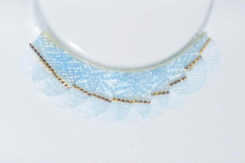 Eye Lash set Golden strap on Blue Pastel Cosmetics Makeup