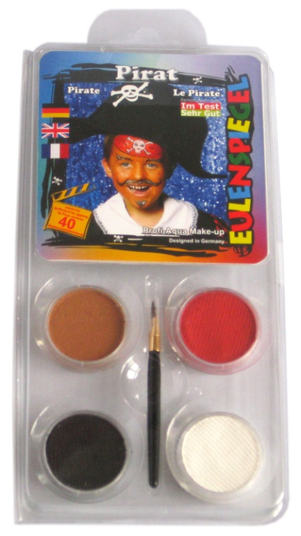 Designer A Face Pack Pirate Face Body Paint Makeup