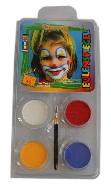 Designer a Face Pack Clown Face Body Paint Makeup