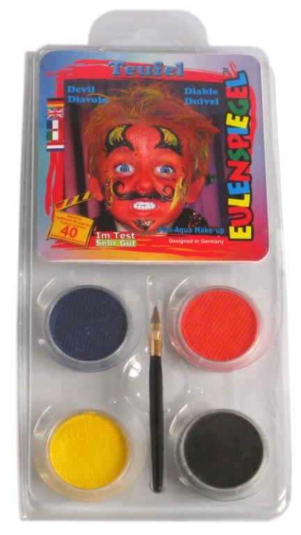Designer A Face Pack Devil Halloween Face Body Paint Makeup