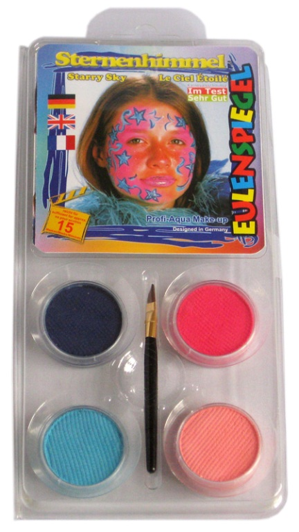 Designer A Face Pack Starry Sky Face Body Paint Makeup Fancy Dress