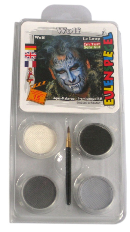 Designer a Face Pack Wolf Face Body Paint Makeup