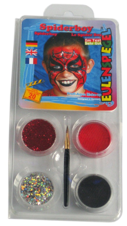 Designer a Face Pack Spiderboy Face Body Paint Makeup Fancy Dress
