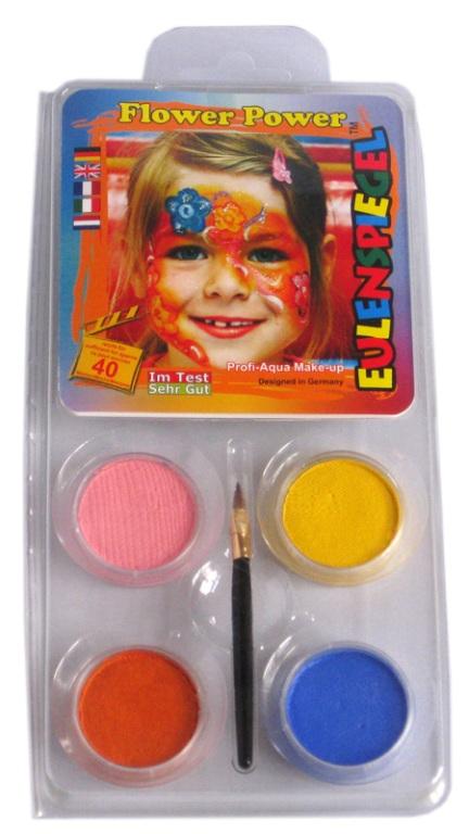 Designer A Face Pack Flower Power Face Body Paint Makeup Fancy Dress